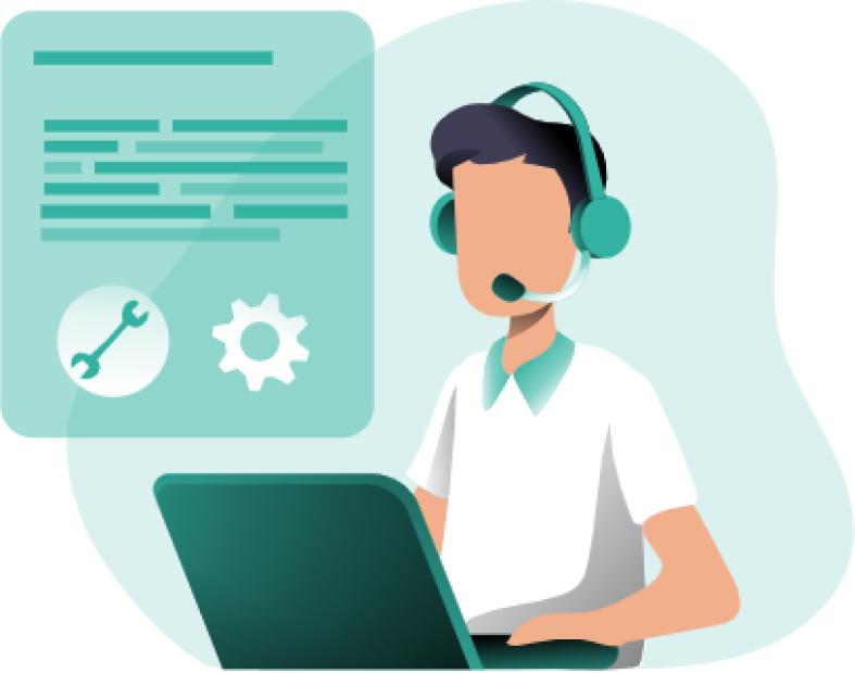 Tech support illustration
